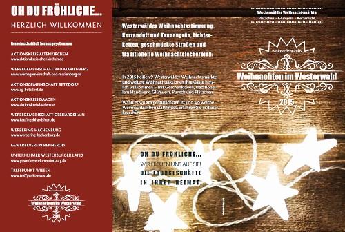 Flyer Weihnachten im Westerwald 2015