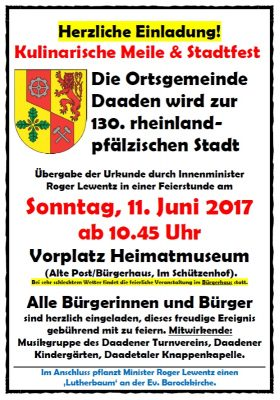 Kulinarische Meile und Stadtfest